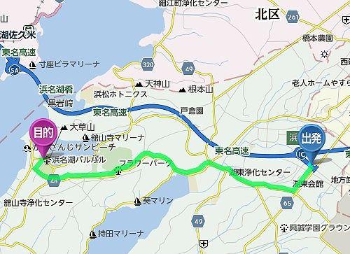 華咲の湯のアクセスマップ