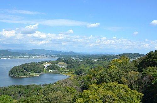 展望台からの富士山方向の景色