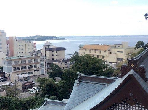 大梵鐘の所からの浜名湖の眺め