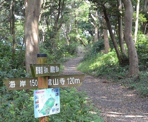 舘山寺観光の山道の様子