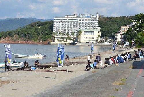 浜名湖地引網体験