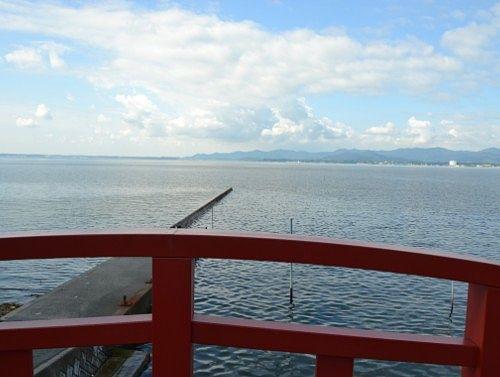 しぶき橋の上からの景色
