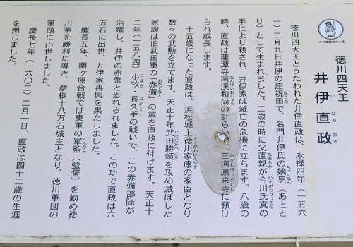 井伊直政の説明パネル