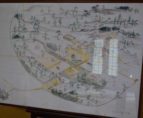 昔の龍潭寺の境内図