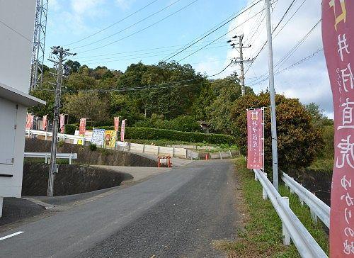 井伊谷城址までの坂道