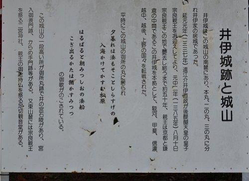 井伊谷城と城山の説明案内版