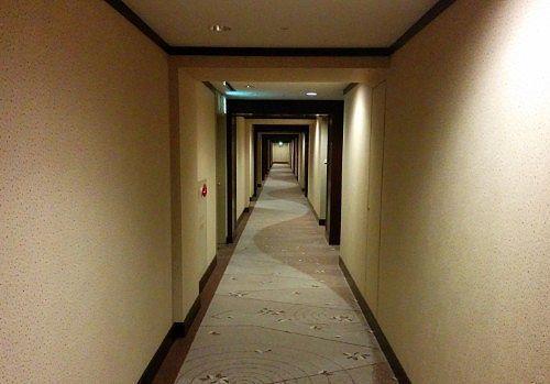 客室に向かう通路