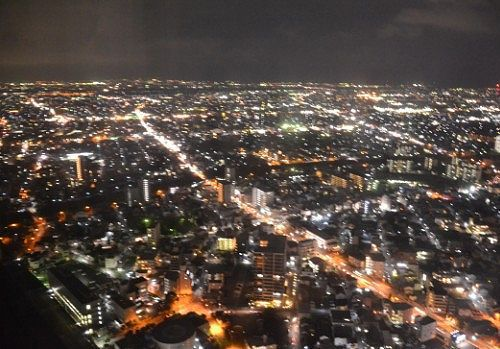 43階客室から見た素晴らしい夜景