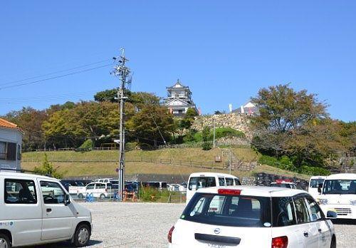 浜松市役所のほうから見た浜松城