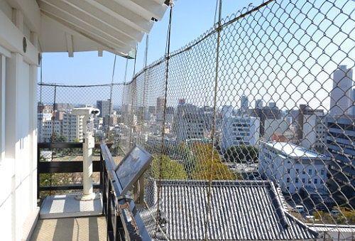 浜松城天守閣展望階から見た景色