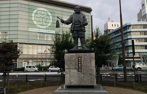 静岡駅の徳川家康公像