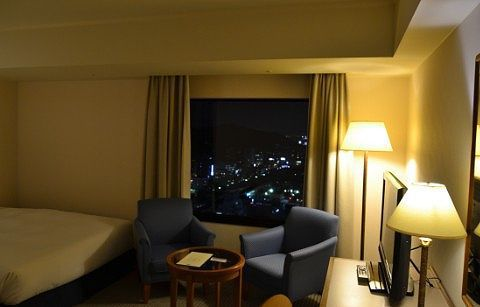夜景が見える客室
