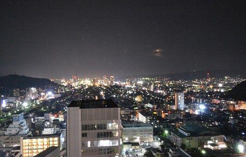 客室から見えた夜景