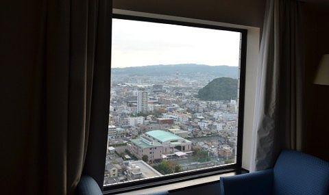 客室の窓からの展望
