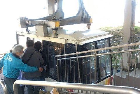 ゴンドラに乗る乗客たち