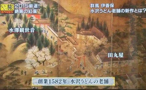 1582年当時の田丸屋の様子がわかる屏風