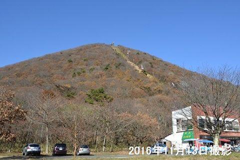 紅葉の終わった榛名富士