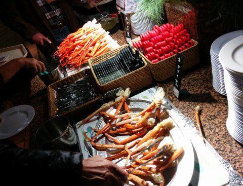 ズワイ蟹と紅ズワイ蟹の食べ放題