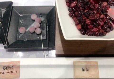 葛饅頭と葡萄
