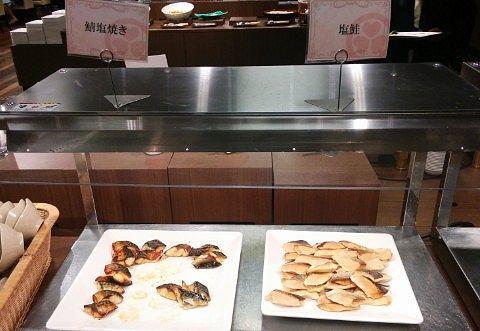 鮭と鯖の塩焼き