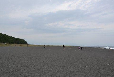富士山が見えなかった三保松原