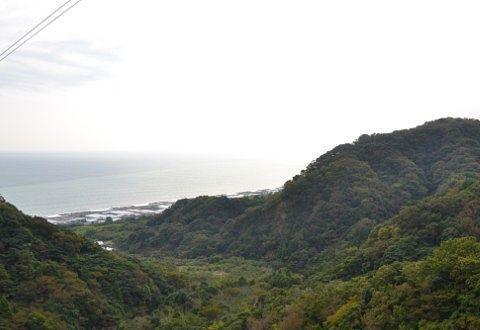 日本平ロープウェイから見える駿河湾の景色