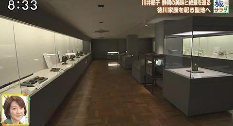 久能山東照宮博物館の中の様子