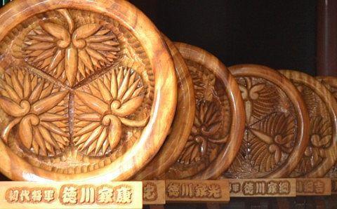 日枝神社の中の大きな葵の御紋