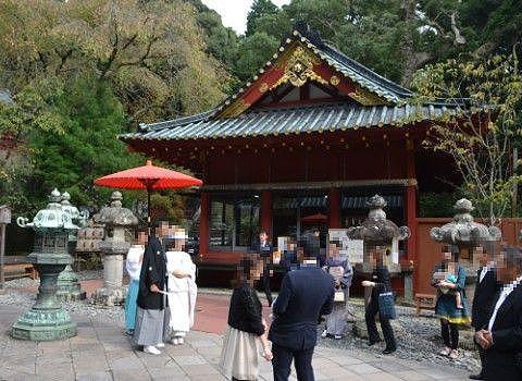 久能山東照宮で結婚式
