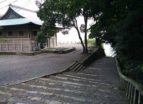 久能山の階段の様子