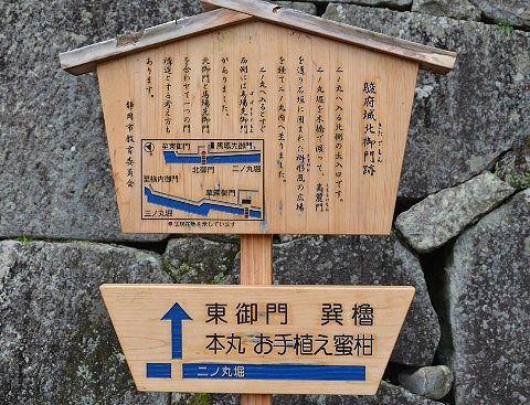 北御門跡の説明パネル