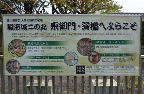 東御門と巽櫓の看板