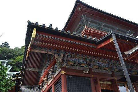 神戸神社・浅間神社の大拝殿の屋根裏の様子