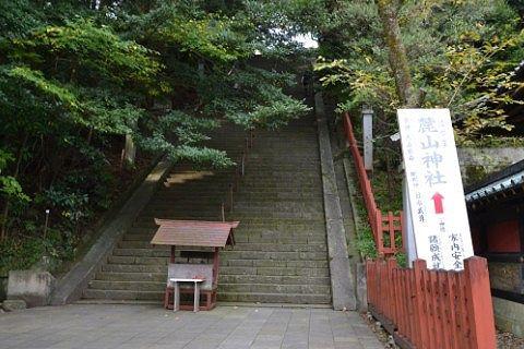 麓山神社に向かう階段