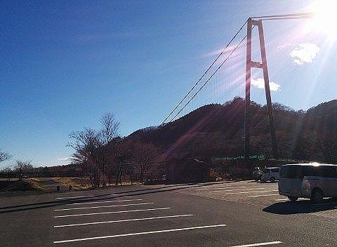 もみじ谷大吊橋駐車場の様子