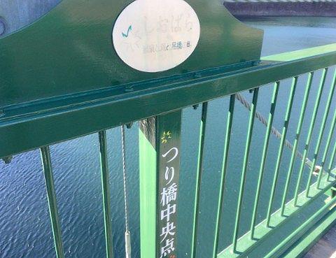 吊り橋中央地点の表示