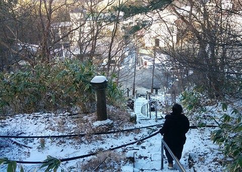 温泉神社からの帰り道の景色
