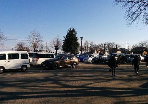 初詣用臨時駐車場の様子
