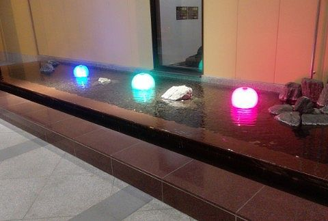 エントランス横の照明