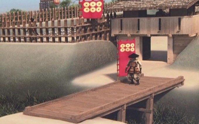 戦国時代の名胡桃城想像図