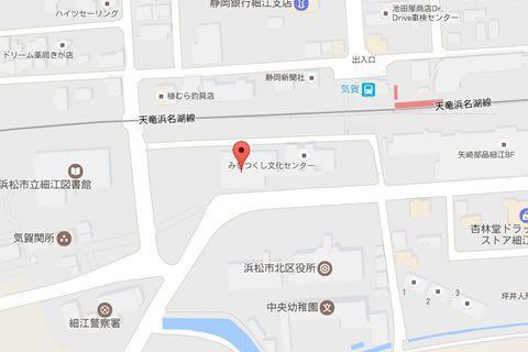 浜松市みをつくし文化センター周辺地図