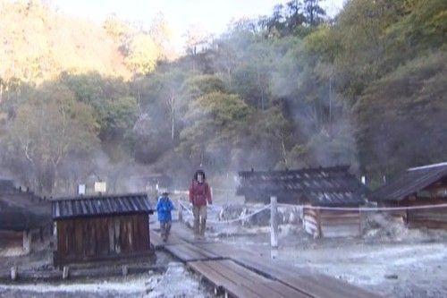 湯元温泉源泉地の様子