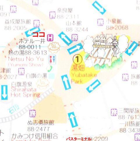 湯畑道路マップ