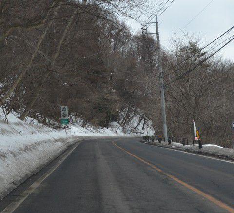 国道292号線チェーン脱着所2番目付近の道路の様子