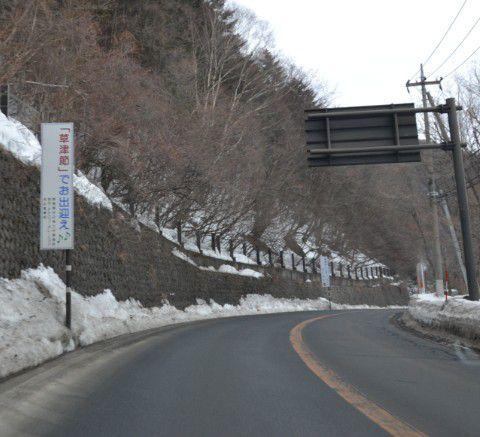 草津節メロディラインの道路の様子