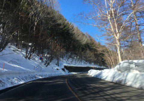 国道292号線天狗山スキー場付近の様子