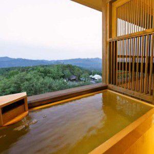 湯宿 季の庭露天風呂客室の様子