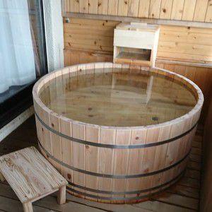 露天風呂客室のお風呂の様子