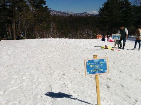 森のスキー場ゲレンデ