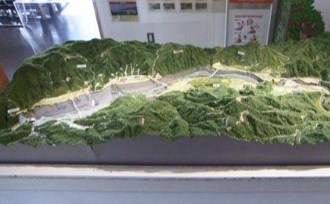 八ッ場ダムのジオラマ